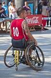 Jugador de básquet en sillón de ruedas Imagen de archivo