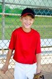 Retrato del jugador de béisbol de la juventud Fotografía de archivo
