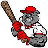 Jugador de béisbol del dogo Imagen de archivo