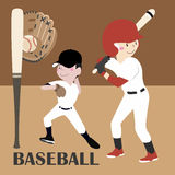 Jugador de béisbol del ejemplo del vector Fotos de archivo