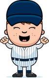 Jugador de béisbol emocionado stock de ilustración