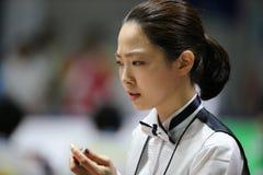 Jugador de billar de Cha Yu-Ram de la Corea del Sur Foto de archivo