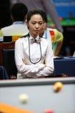 Jugador de billar de Cha Yu-Ram de la Corea del Sur Fotografía de archivo libre de regalías
