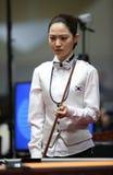 Jugador de billar de Cha Yu-Ram de la Corea del Sur Imagenes de archivo