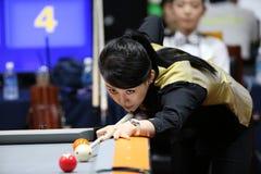 Jugador de billar de PAN Xiaoting de China Imagenes de archivo