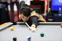 Jugador de billar de PAN Xiaoting de China Foto de archivo libre de regalías
