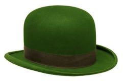 Jugador de bolos o sombrero verde de derby imagen de archivo