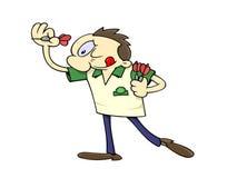 Jugador de dardos stock de ilustración