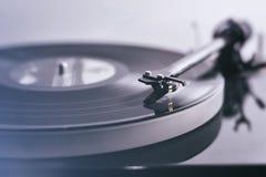 Jugador de disco de vinilo Imagen de archivo libre de regalías