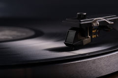 Jugador de disco de vinilo Foto de archivo