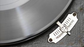 Jugador de disco de vinilo de la placa giratoria del vintage almacen de video