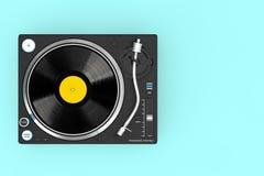 Jugador de disco de vinilo profesional de la placa giratoria de DJ representación 3d stock de ilustración