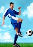 Jugador de fútbol foto de archivo libre de regalías