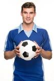 Jugador de fútbol Imágenes de archivo libres de regalías