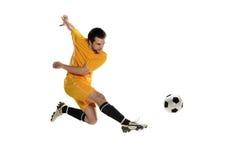 Jugador de fútbol foto de archivo