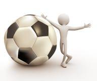jugador de fútbol 3d Fotografía de archivo libre de regalías