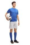 Jugador de fútbol adolescente Imagenes de archivo