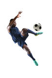Jugador de fútbol afroamericano imagenes de archivo