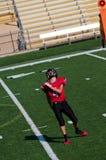 Jugador de fútbol americano de la High School secundaria Imágenes de archivo libres de regalías