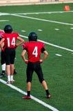 Jugador de fútbol americano de la High School secundaria Foto de archivo