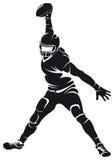 Jugador de fútbol americano, silueta