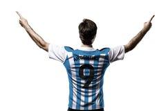 Jugador de fútbol argentino Foto de archivo libre de regalías