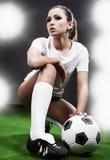 Jugador de fútbol atractivo foto de archivo