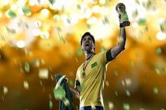 Jugador de fútbol brasileño imágenes de archivo libres de regalías