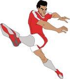 Jugador de fútbol con la bola libre illustration