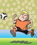 Jugador de fútbol corriente Imágenes de archivo libres de regalías