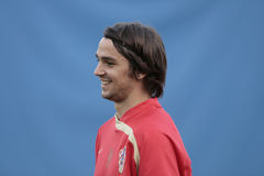 Jugador de fútbol croata Kranjcar fotos de archivo