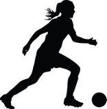 Jugador de fútbol de la mujer Fotografía de archivo