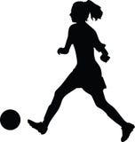 Jugador de fútbol de la mujer Imagen de archivo libre de regalías