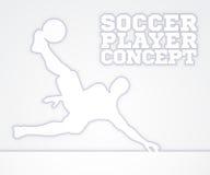 Jugador de fútbol de la silueta Foto de archivo libre de regalías