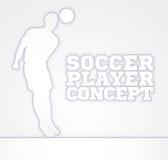 Jugador de fútbol de la silueta del concepto Imagenes de archivo