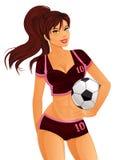 Jugador de fútbol de sexo femenino Fotos de archivo