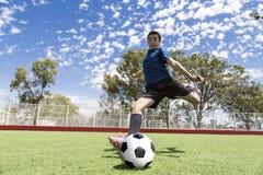 Jugador de fútbol del fútbol Imágenes de archivo libres de regalías