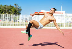 Jugador de fútbol del fútbol i Fotos de archivo