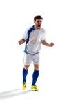 Jugador de fútbol en la acción imagen de archivo
