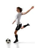 Jugador de fútbol en la acción fotografía de archivo