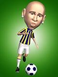 Jugador de fútbol en la acción libre illustration