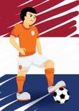 Jugador de fútbol holandés Imagen de archivo libre de regalías