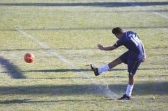 Jugador de fútbol indocanadiense Fotos de archivo