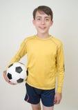 Jugador de fútbol joven Imágenes de archivo libres de regalías