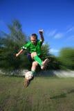 Jugador de fútbol joven Fotos de archivo libres de regalías