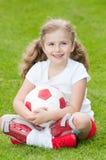 Jugador de fútbol lindo Imagenes de archivo