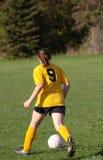 Jugador de fútbol que golpea la bola con el pie 5 Fotografía de archivo
