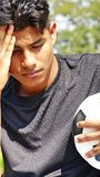Jugador de fútbol de sexo masculino infeliz Imagen de archivo libre de regalías