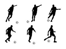 Jugador de fútbol (vector) ilustración del vector