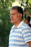 Jugador de fútbol y coche de Dusko Bajevic Imágenes de archivo libres de regalías